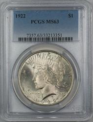 1922  Peace  $1  PCGS (12A)
