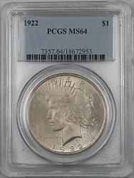 1922  Peace  $1  PCGS (BR 11 H) Toned