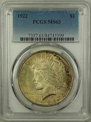 1922  Peace  $1  PCGS Toned (16d)