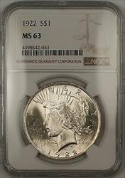 1922  Peace  $1 NGC (Better ) (14b)