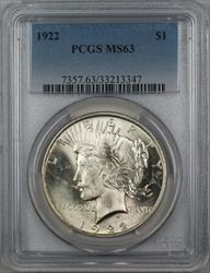 1922  Peace  $1 PCGS (Better ) (12G)