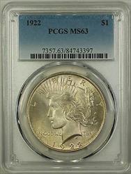 1922  Peace  $1 PCGS (Better ) (16b)
