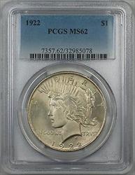 1922  Peace  $1 PCGS 5A