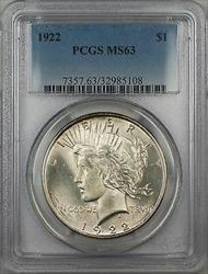 1922  Peace  $1 PCGS 5G
