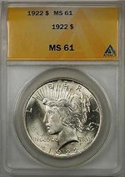 1922 $1 Peace    ANACS (Better ) (8A)