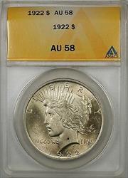 1922 $1 Peace    ANACS (Better ) (8B)