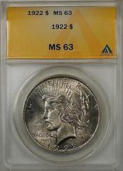 1922 $1 Peace    ANACS Toned (8B)