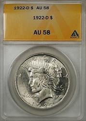 1922 D $1 Peace    ANACS (Better ) (8B)