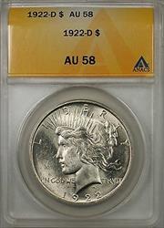 1922 D $1 Peace    ANACS (Better ) (8C)