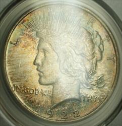 1922 D Peace   $1  PCGS Beautifully Toned (21) B