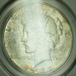 1922 D Peace   $1  PCGS Toned (21) A