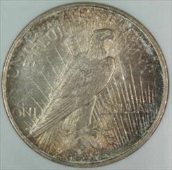 1922 D Peace   NGC Toned DGH