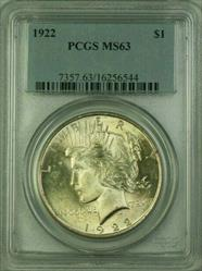 1922 Peace   $1  PCGS (16) J