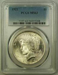 1922 Peace   $1  PCGS (21) G