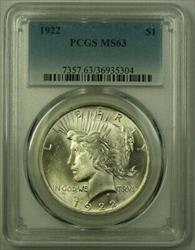 1922 Peace   $1  PCGS (21) P