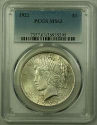1922 Peace   $1  PCGS (21) Q