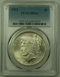 1922 Peace   $1  PCGS (21) S