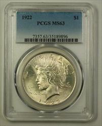 1922 Peace   $1  PCGS (A) (18)