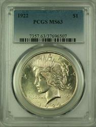 1922 Peace   $1  PCGS (Better ) (16) L