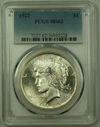 1922 Peace   $1  PCGS Better  (21) B