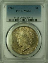 1922 Peace   $1  PCGS Toned (16) M