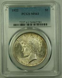 1922 Peace   $1  PCGS Toned (21)