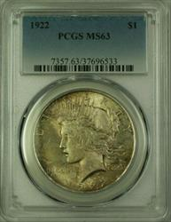 1922 Peace   $1  PCGS Toning (16) N