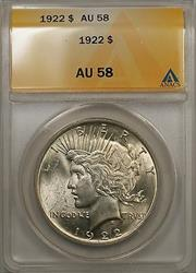 1922 Peace   $1 ANACS Better  A