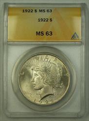 1922 Peace   $1 ANACS JMX