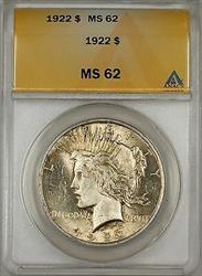1922 Peace   $1 ANACS Toned (Better ) (10b)