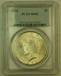 1922 Peace   $1 PCGS (24) Light Toning