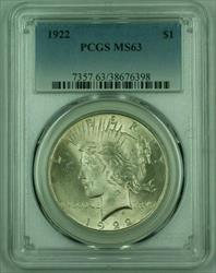 1922 Peace   PCGS (Very Well Struck) (A) (25)