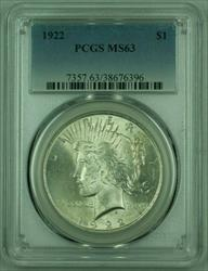 1922 Peace   PCGS (Very Well Struck) (C) (25)