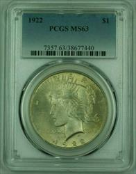 1922 Peace   PCGS Lightly Toned (D) (25)