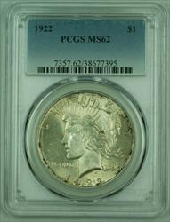 1922 Peace   S$1 PCGS Lightly Toned (Exceptional Strike)(B) 25
