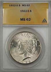 1922 S Peace    $1 ANACS