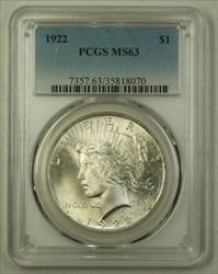 1922 US  Peace  $1  PCGS Choice (Better) (G) 19