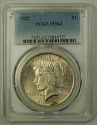 1922 US  Peace  $1  PCGS Slightly Toned (A) 19