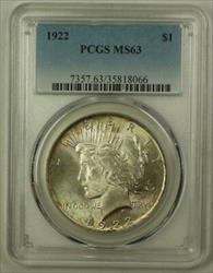 1922 US  Peace  $1  PCGS Toned Choice (B) 19