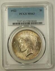 1922 US  Peace  $1  PCGS Toned Choice (F) 19