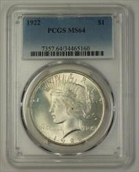1922 US Peace   $1  PCGS Very Choice (17L) (Better)