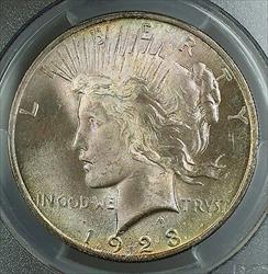 1923  Peace   $1 PCGS Toned