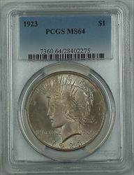 1923  Peace   $1 PCGS Toned DMK