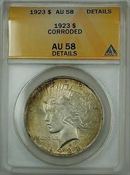 1923  Peace   ANACS Details Corroded Nicely Toned