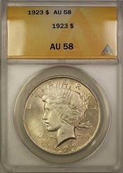 1923  Peace  $1  ANACS
