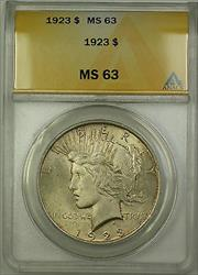 1923  Peace  $1  ANACS Lightly Toned
