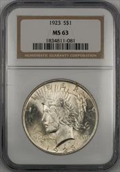 1923  Peace  $1  NGC