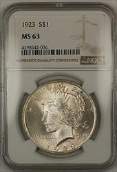 1923  Peace  $1  NGC (14c)