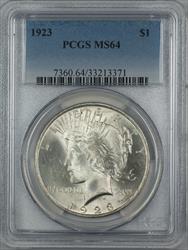 1923  Peace  $1  PCGS (12A)
