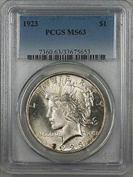 1923  Peace  $1  PCGS (9c)